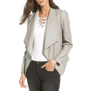 BB Dakota assymetric Faux Leather coat